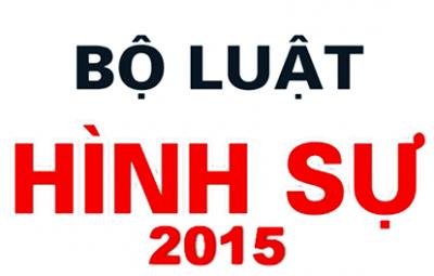 Hoãn thi hành Bộ Luật hình sự 2015