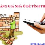 Bảng giá nhà ở để tính thuế xây dựng