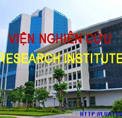 Tư vấn thành lập Viện nghiên cứu tại Việt Nam